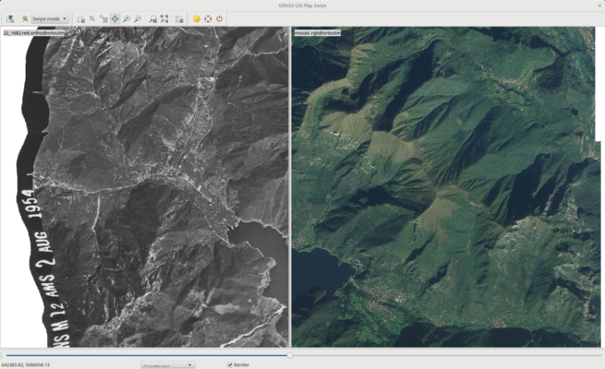 Georectified aerial photo (screenshot by Luca Delucchi)