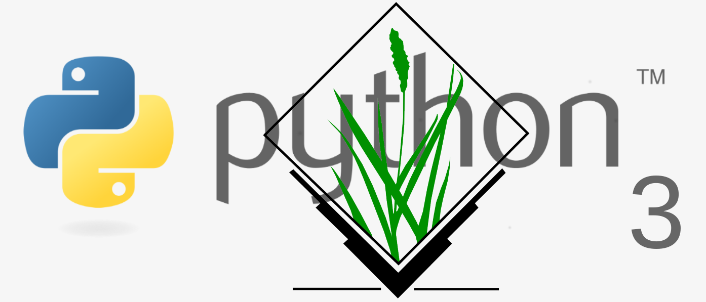 GRASS GIS with Python 3 support blended logo